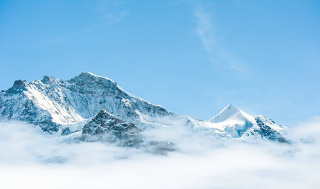 Schilthorn, one of the most famous top mountain in jungfrau region, Switzerland photo