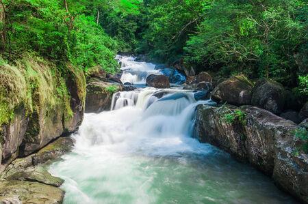 nang: Deep forest waterfall at Nang Rong Waterfall in Nakornnayok, Thailand