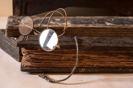 treatise: Ancient Treatise with very old glasses retro style