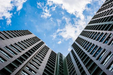 sky scrapers: looking up perspective of sky scrabbler