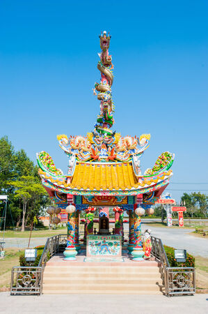 respecting: chinese temple