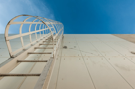Fire escape ladder on a building photo