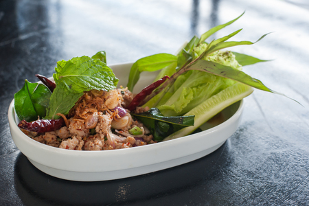 named: Hory Duck, Thai food named Larb Ped