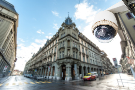 detection: CCTV Camera or surveillance Operating with city