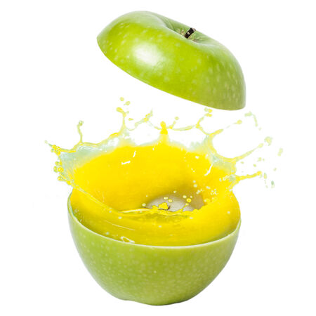 Abstract Apple Juice splash Stock Photo