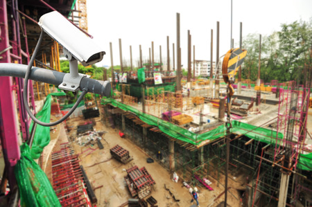 watch video: CCTV Camera or surveillance Operating in construction site