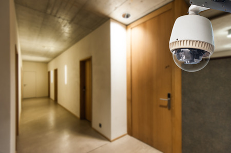 CCTV Camera or surveillance Operating in dormitory Editorial