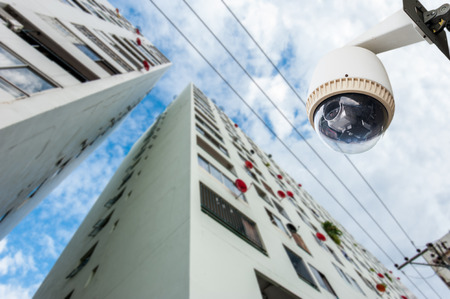 CCTV Camera or surveillance Operating out side condominium photo