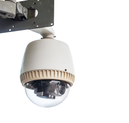 CCTV Camera on white isolated  photo