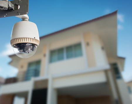 big brother spy: CCTV Camera with house
