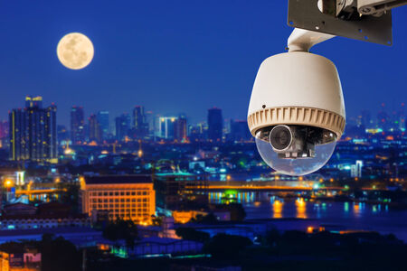 CCTV Camera or surveillance Operating with city  photo