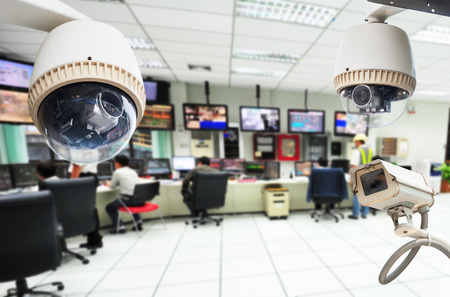 commercial: CCTV Camera or surveillance Operating with security room  Editorial