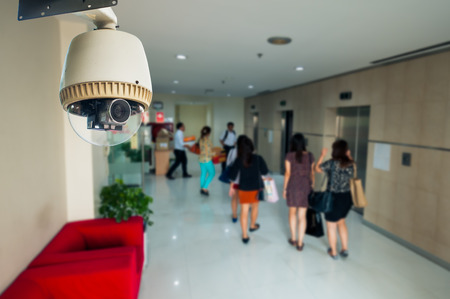 big brother spy: CCTV Camera or surveillance Operating with elevator