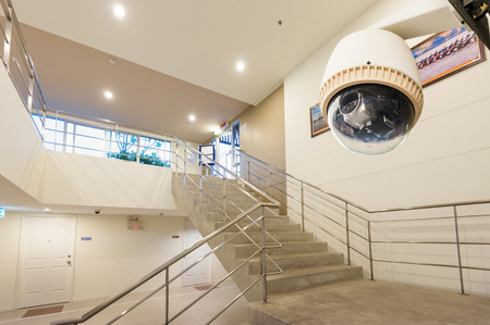 CCTV Camera or surveillance Operating with stair