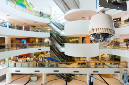CCTV Camera or surveillance Operating in department store Editorial