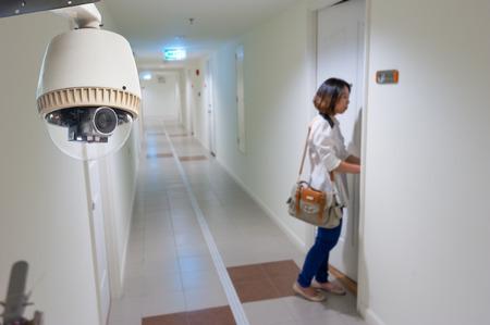 CCTV Camera or surveillance Operating in condomenium Editorial