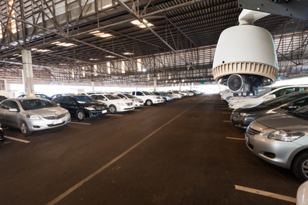 Cctv Camera Operating In Car Park Building Stock Photo Picture