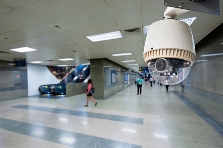 CCTV Camera or surveillance Operating on walk way and escalator