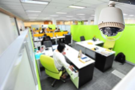 CCTV Camera or surveillance Operating in office building Editorial