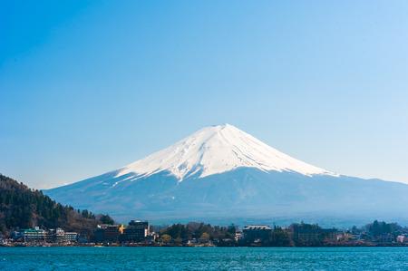 kawaguchi ko: Fujisan , Mount Fuji view from Kawaguchiko lake, Japan