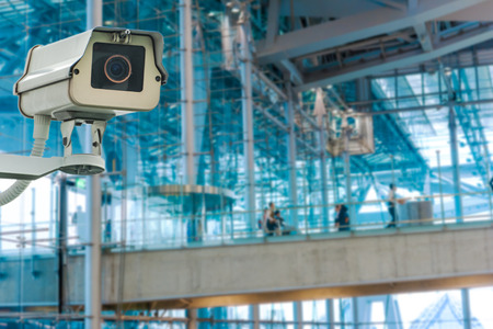 CCTV Camera or surveillance operating Stock Photo