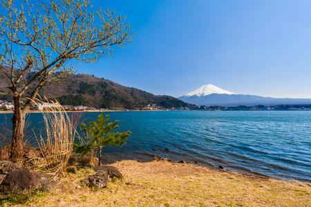 kawaguchi: Fujisan , Mount Fuji view from Kawaguchiko lake, Japan