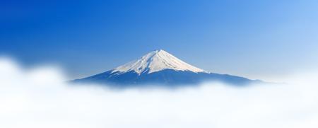 kawaguchi: Fujisan , Mount Fuji with cloud and mist