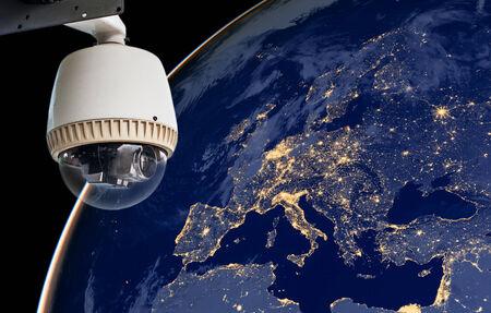 monitoring system: CCTV Exploring europe region Stock Photo