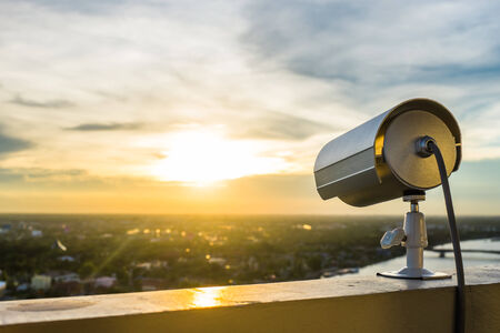 CCTV Camera or surveillance with sunlight
