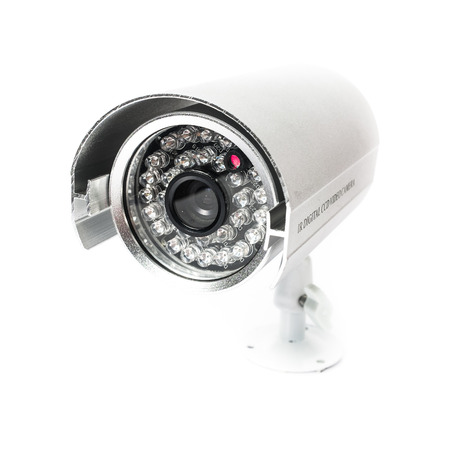 CCTV Camera of Surveillance isolate on white background Фото со стока
