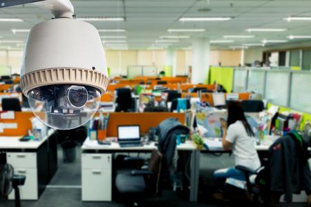 people  camera: CCTV u operativo de vigilancia en la oficina Foto de archivo