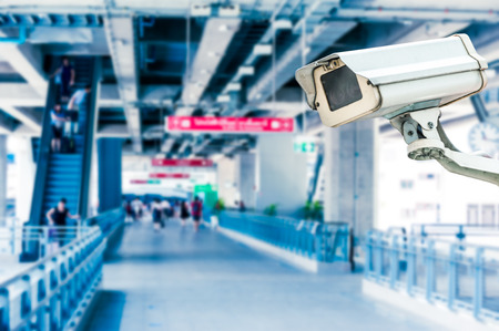 CCTV Camera Operating with escalator photo