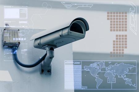 La technologie de la caméra de vidéosurveillance sur écran