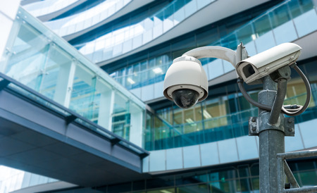 security room: CCTV or surveillance operating in office building
