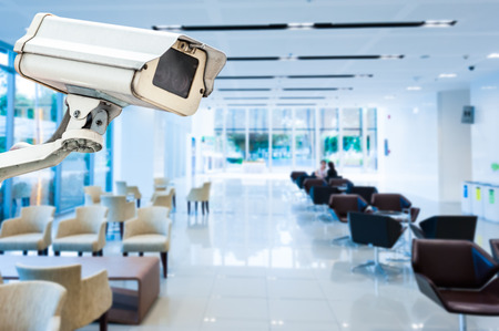 control room: CCTV or surveillance operating in office building