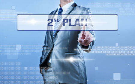 failed strategy: businessman making decision on 2nd plan