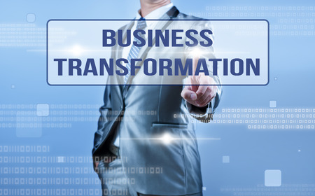 businessman making decision on business transformation