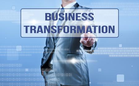 businessman making decision on business transformation