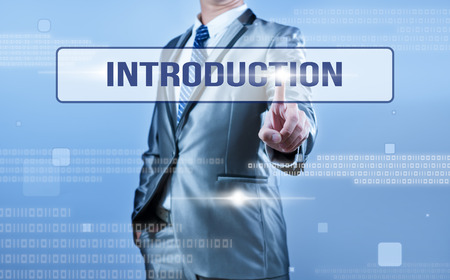businessman making decision on introduction Stock Photo