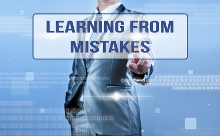 businessman making decision on learning from mistake