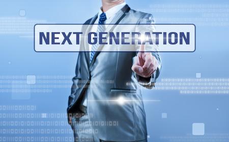 следующий: Решение бизнесмен, на следующее поколение Фото со стока