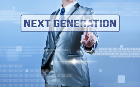 a generation: businessman making decision on next generation