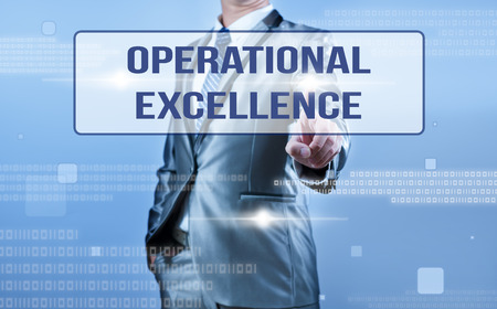 businessman making decision on oeprational excellence