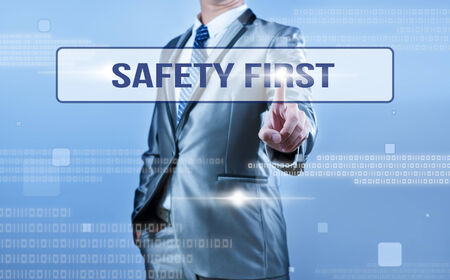safety first: businessman making decision on safety first