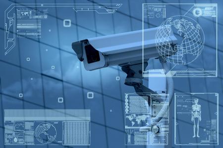 védelme: CCTV kamera technológiát képernyőmenüjének Stock fotó