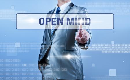 Geschäftszuber Entscheidung über offenen Geist