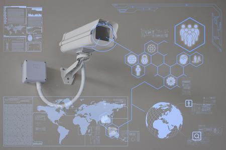 Caméra de vidéosurveillance ou de la technologie de surveillance sur écran Banque d'images