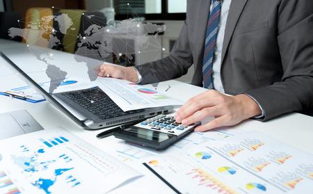 사업가 쇼 분석 보고서, 사업 성과의 개념 스톡 콘텐츠
