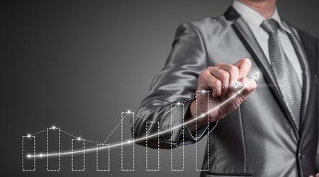 desarrollo econ�mico: de negocios que trabajan con la carta digital, concepto de mejora de negocio