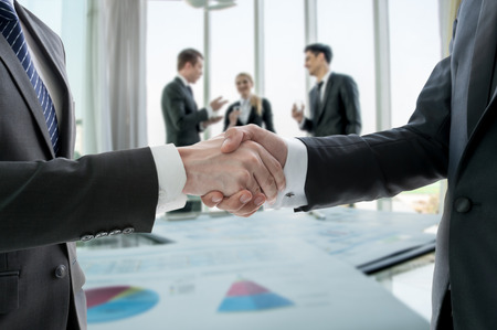 Hand shake of businessman photo